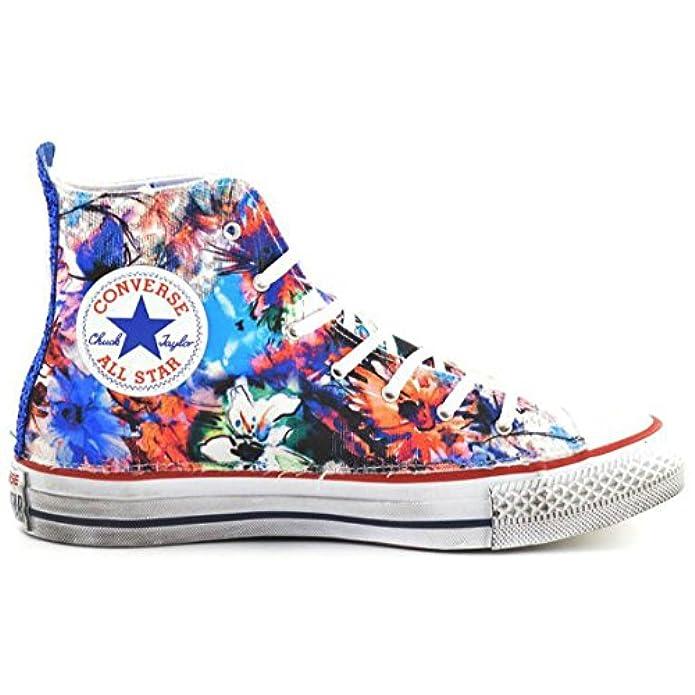 Converse Star Hi Canvas Ltd Flower Royal Glitter 1c16sp01 Sneakers Women 40