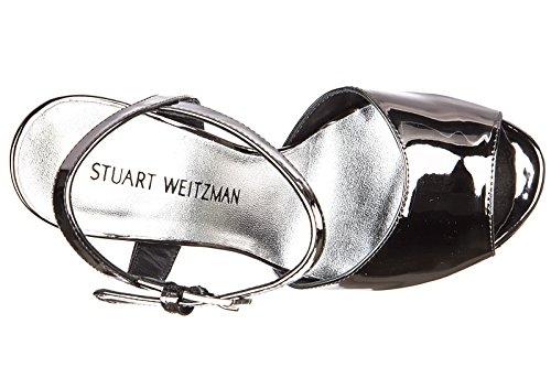 de tacón Stuart nuevo piel en sandalias Weitzman plata mujer pqaaHgPw