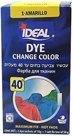 Ideal Dye amarillo polvo dye propósito tela color tinte ...