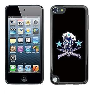 YiPhone /// Prima de resorte delgada de la cubierta del caso de Shell Armor - Communist Russia Skull Captain Sailor - Apple iPod Touch 5