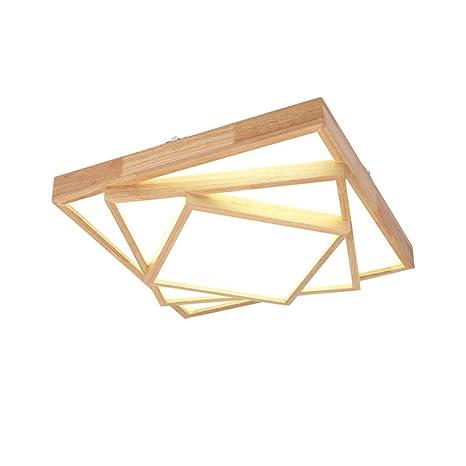 TopDeng Creativo De madera LED Lámpara de techo Con Acrílico ...