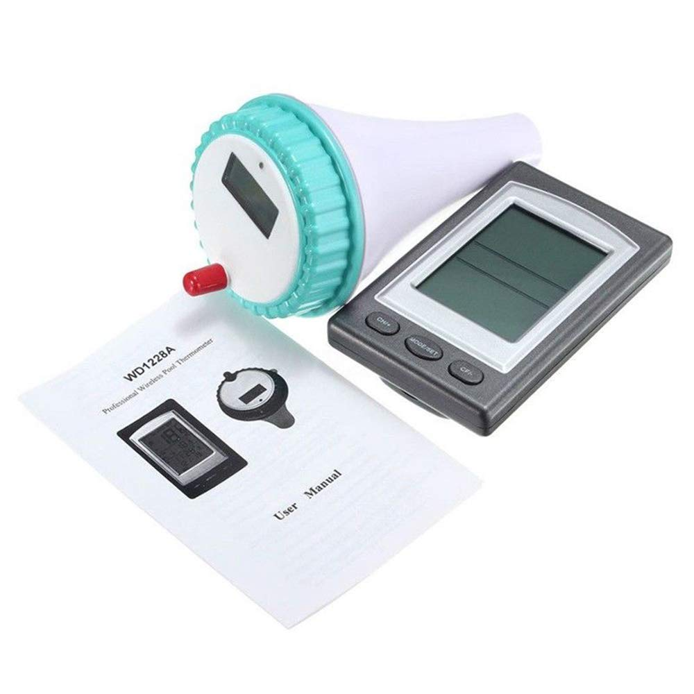 Blue GuangYuan Thermometer,Floating Thermometer Wireless Digital Remote Observation Outdoor Swimming Pool
