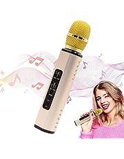Micrófono Karaoke, Inalámbrico Micrófono Vocal Micrófonos Dinámicos sin Cable Ideal para Niños Canta Partido, Compatible con PC/iOS/Android/Smart Device