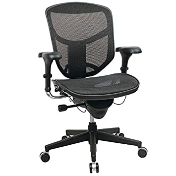 WorkPro Quantum 9000 Series Ergonomic Mesh Mid-Back Chair - Black