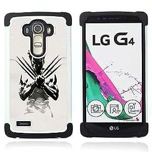 BullDog Case - FOR/LG G4 H815 H810 F500L / - / X Claw Superhero /- H??brido Heavy Duty caja del tel??fono protector din??mico - silicona suave