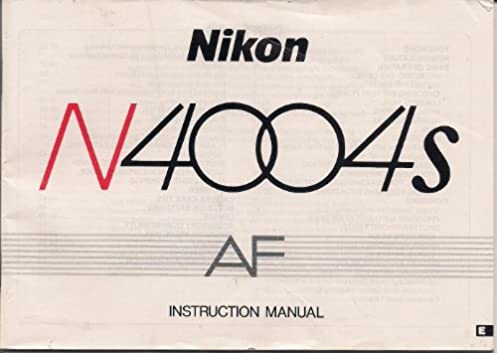 nikon n4004s af camera instruction manual nikon amazon com books rh amazon com Nikon F7 nikon n4004 af user's manual
