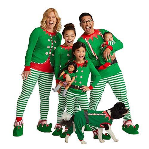 printing nightwear romper papa family pajamas homewear for kids hzjundasi christmas mama stripe matching xmas baby