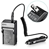Neewer NP-FM500 AC Wall Charger and In-Car Adapter for Sony Batteries