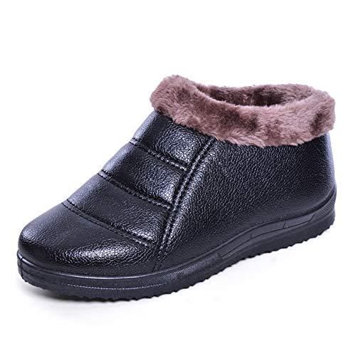 JACKY LUYI Women Winter Ankle Boots Warm Fur Lined Waterproof Snow Boots
