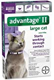 Bayer Advantage II Flea Control Treatment for Cats, Large Cat, Over 9-Pound, 6-Month Pack