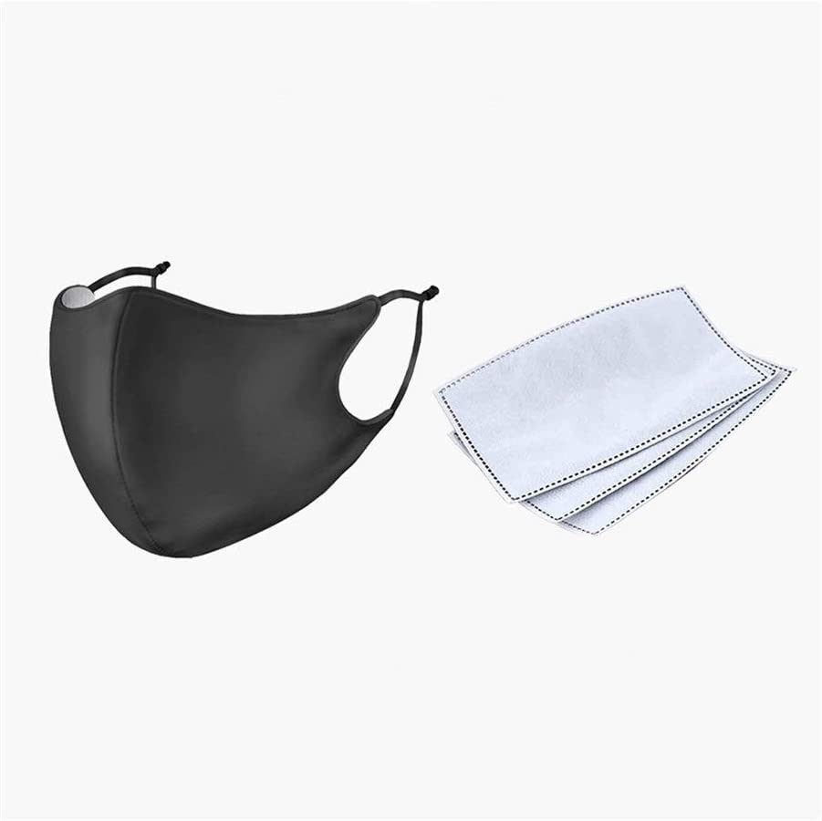 Lucha contra la boca del polvo máscara con 3 Filtros unisex de la boca de algodón lavable reutilizable Máscara Máscara Anti-polvo máscara de protección for la boca corrientes de los deportes de escala