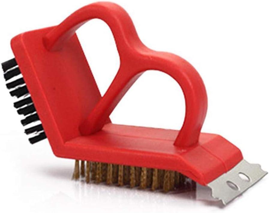 LNYJ 3 en 1 Hogar Multifuncional Cepillo de Limpieza for la Barbacoa Estufa Parrilla de Alambre de Cobre Cepillo Cepillo de plástico Inoxidable St
