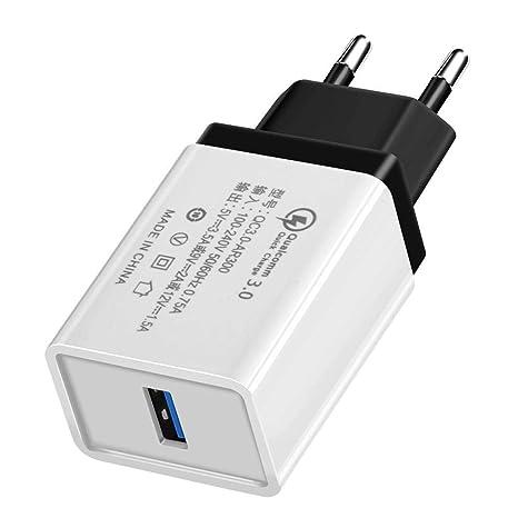 Puizza Cargador para Móvil USB QC 3.0 Carga Rápida 3.0 ...