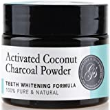 Activated Coconut Charcoal Teeth Whitening Powder | 100% Organic & Natural | Safe & Effective Whitener for Normal & Sensitive Teeth - Get Wow Results with Active Coconut Charcoal