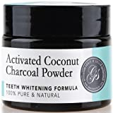 NEW Charcoal Teeth Whitening Powder Activated | 100% Pure & Natural | Safe & Effective Whitener for Normal and Sensitive Gums | Wow results Whiten, Coconut Active organic ingredients (Mint)