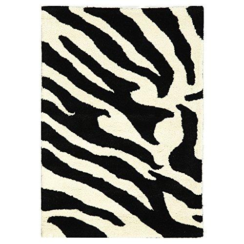 - Safavieh Soho Collection SOH717A Handmade White and Black Premium Wool Area Rug (2' x 3')