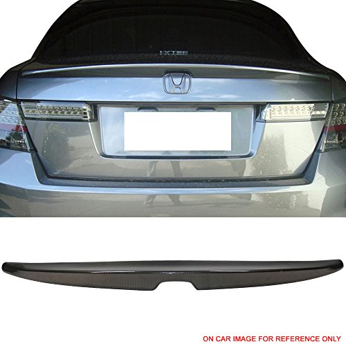 - Trunk Spoiler Fits 2008-2012 Honda Accord | Factory Style Carbon Fiber Look ABS Flush Mount Rear Tail Trunk Lid Lip Wing by IKON MOTORSPORTS | 2009 2010 2011