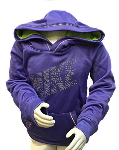 Nike Kids Therma-Fit KO Reflective Pullover Training Hoodie (4, Purple Haze)