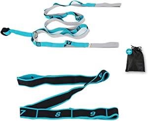 RHome Yoga Stretch Strap   Multi-Loop, for Physical Therapy, Yoga, Dance and Gymnastics, High Resilient, Multiple Use, Stretch After Sports, Stretching Out, Working Out, Muscle Pain Relief