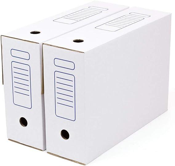 Kartox | Caja de Archivo | Montaje Automático | 38.7x11.5x28 | Tamaño Folio | Lomo de 115 mm | 20 Unidades | Color Blanco: Amazon.es: Oficina y papelería