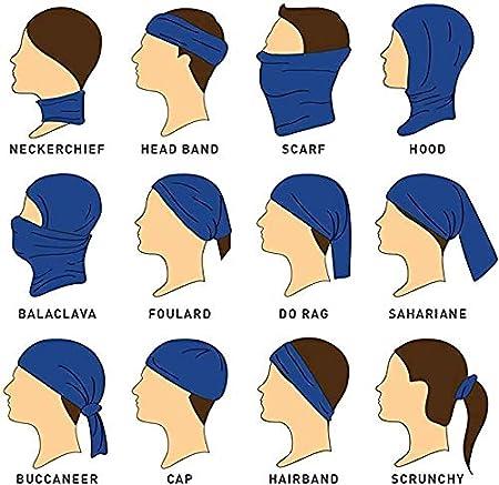 viento y polvo m/áscara de bandana UPF para el sol sombreros polainas para el cuello Funda para la cara transpirable Attikee unisex bufanda