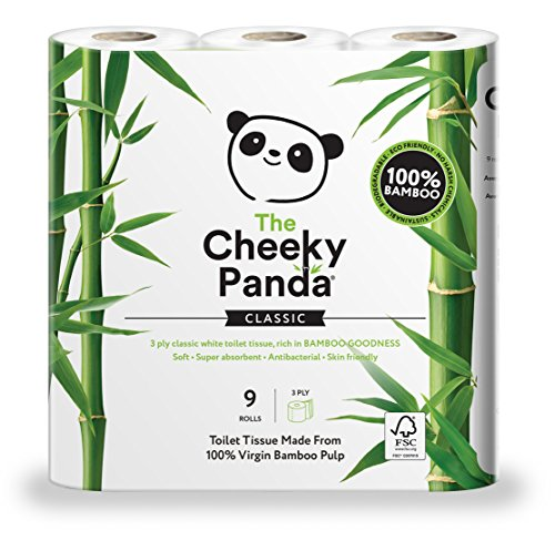 The Cheeky Panda Ultra Sustainable Hypoallergenic 100% Bamboo Toilet Roll a Pack...