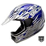 SmartDealsNow - HHH DOT Youth & Kids Helmet for Dirtbike ATV Motocross MX Offroad Motorcyle Street bike BLUE-BLACK (Small)