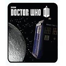 "Doctor Who Tardis Moon in Space Fleece Throw Blanket50""x60"""