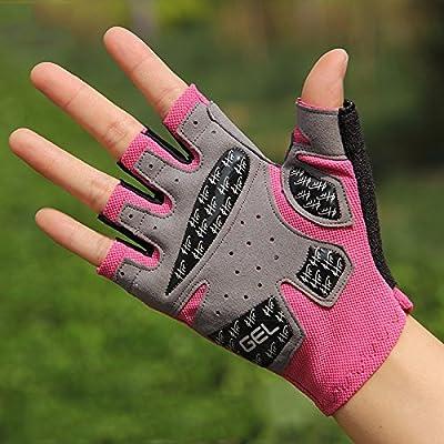 Gants de fitness, women's sports yoga de l'équipement, de la formation, à simple barre anti skid doigt gants hommes semi perméable