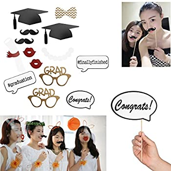 Graduation Photo Props Graduation Phtoto Booth Props Oulii 2018 Graduation Party Decorations Pack Of 17 2
