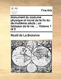 Monument du Costume Physique et Moral de la Fin du Dix-Huitième Siècle; on Tableaux de la Vie, Restif De La Bretonne, 1140905074