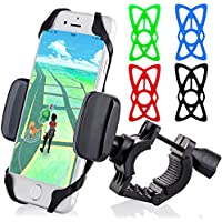 JAMRON Universal Bike Bicycle & Motorcycle Smartphone Mount Holder [Most Secure] Handlebar Holder for iPhone 7/7 Plus/6/6s Plus/5S/5C,Samsung Galaxy S6/S7 Edge,Note 5/4/3,LG G4/G5 All Smartphones 5.7
