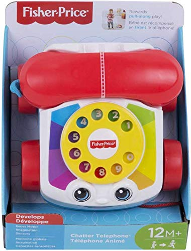 Classic Chatter Telephone - Toddler Pull Along Toy Phone with Numbers, Develops Motor and Imagination Skills!