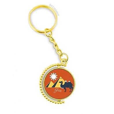 Amazon.com: Llavero de metal con diseño de camello de la ...
