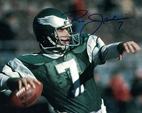 (Ron Jaworski Autographed Philadelphia Eagles 8x10 Photo (horizontal passing))