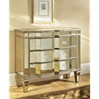 Pulaski Iona Accent Chest Marquis, 36 by 14 by 32-Inch, Silver