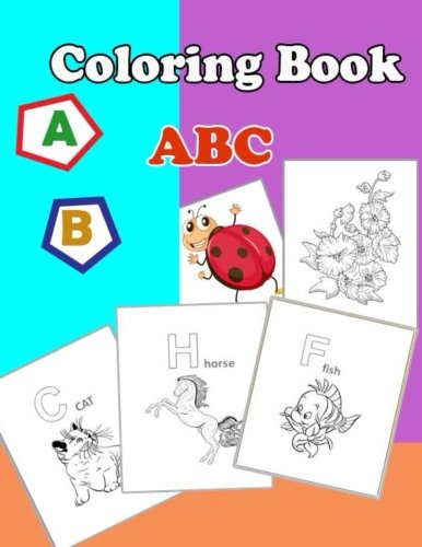 Amazon.com: coloring book ABC: Coloring Book Set With 24 ...