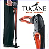 Tucane Lite 8X- Self-Propelled Advanced Walking Stick (8x lighter than old version) (Black/ Orange Tones)