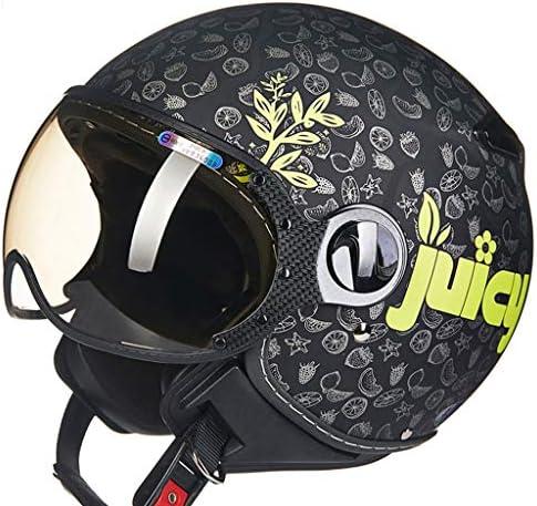 ZJJ ヘルメット- セミカバーヘルメット、ユニセックスヘルメット、雨および紫外線保護用ヘルメット、ライトブラウンショートレンズ (色 : C, サイズ さいず : M)