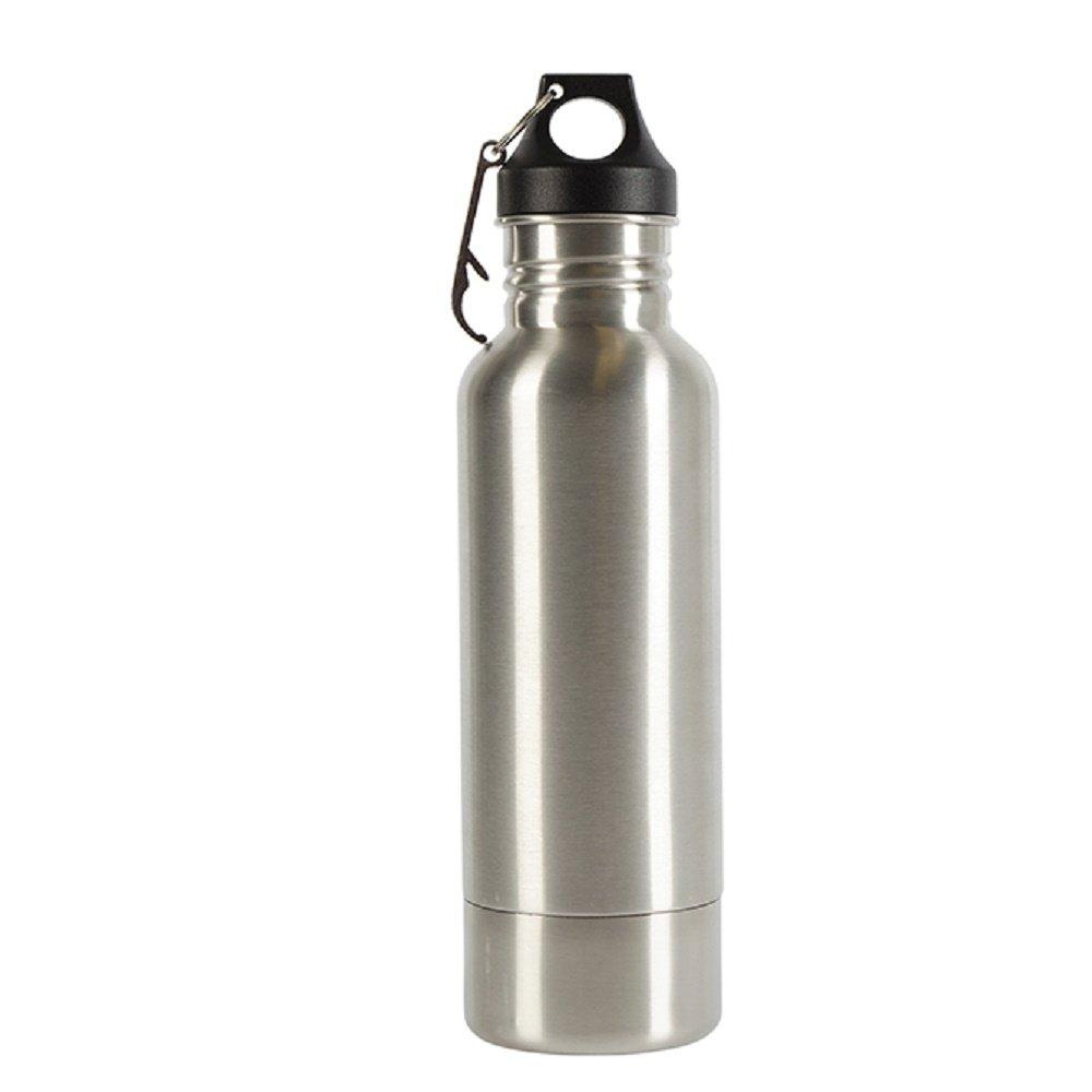 Carson ステンレススチールボトルガード ネオプレン製ドリンクウェアアクセサリー付き シルバー B07DN6F7T5