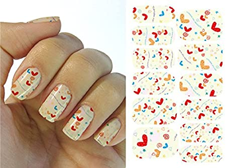 Full Wrap Nail Art Water Transfer Decal Sticker Little White Flower Nail Sticker Tattoo - FashionLife