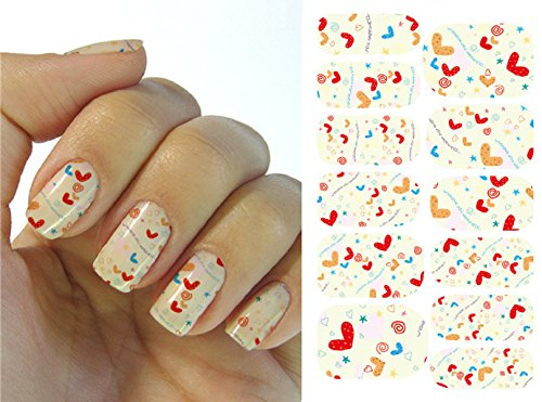 Full Wrap Nail Art Water Transfer Decal Sticker Dark Colourful Printing Nail Sticker Tattoo - FashionLife