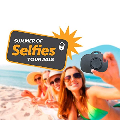 Nkomax Wireless Bluetooth Camera Shutter Remote Control for Smartphones - Create Amazing Photos and Selfies - Compatible with all IOS and Android Devices with Bluetooth (black)