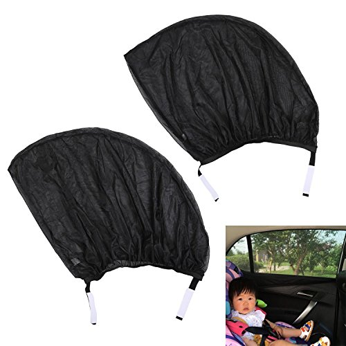 Car Side Window Sunshades, niceEshop(TM) Car Sunshades Protector Fits All Cars Protects Children and Pets From Harmful UV Rays, 2 Pack, M
