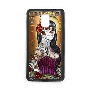 Diy Cool Sugar Skull Custom Cover Phone Ipod Touch 4 Black Shell Phone [Pattern-2]