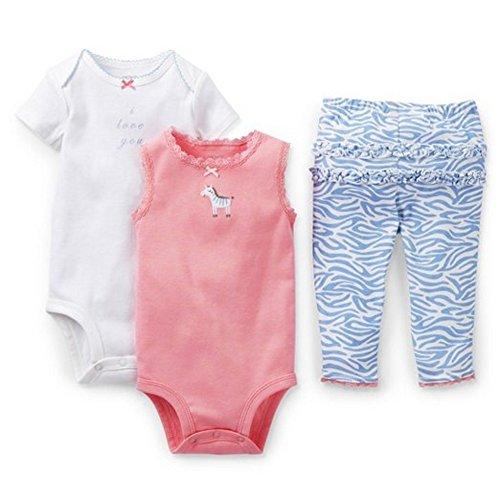 Carters Zebra love 3pc Bodysuit