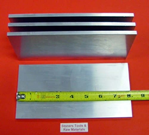 4 Pieces 3/8'' X 6'' ALUMINUM 6061 FLAT BAR 8'' long .375'' Plate Mill Stock T6511 by Stoner Metals