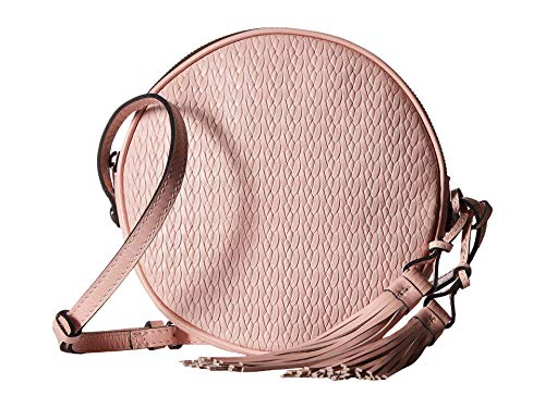 Patricia Nash Women's Twisted Woven Embossed Scafati Canteen Crossbody Pink One Size