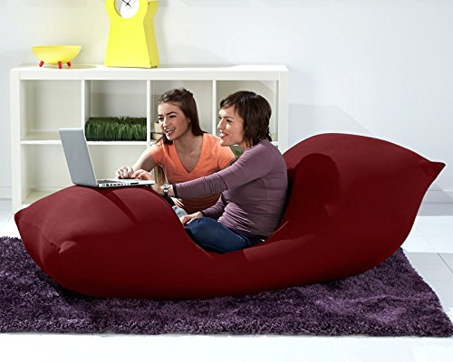 51VsXKTtQJL - Yogibo Max Giant Bean Bag, 6-Feet, Burgundy