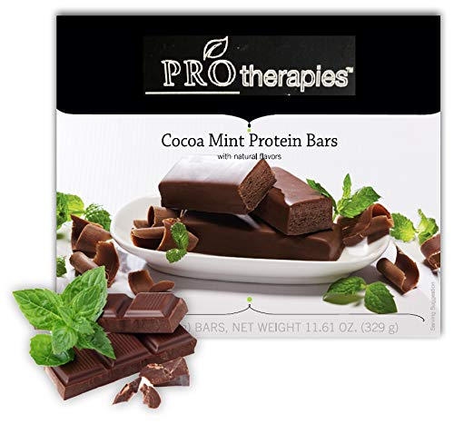 ProTherapies Protein Bar 15g - Low Carb High-Protein Weight Loss Snack Bar for Healthy Diets, Cocoa Mint, 7 Count